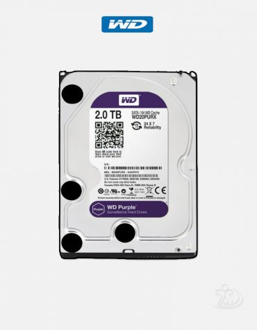 Western Digital Purple 2 TB 3.5 Inch SATA 5400 RPM Surveillance Hard Drive