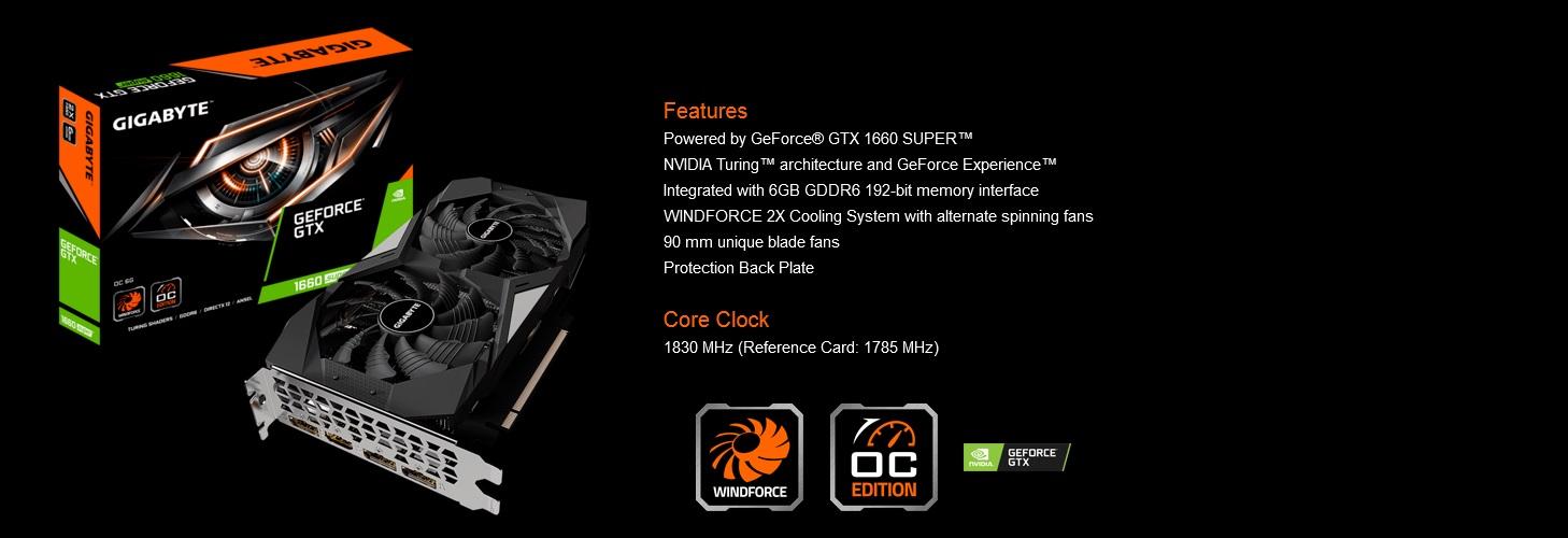 Gigabyte 6GB 1660 Super Graphics Card