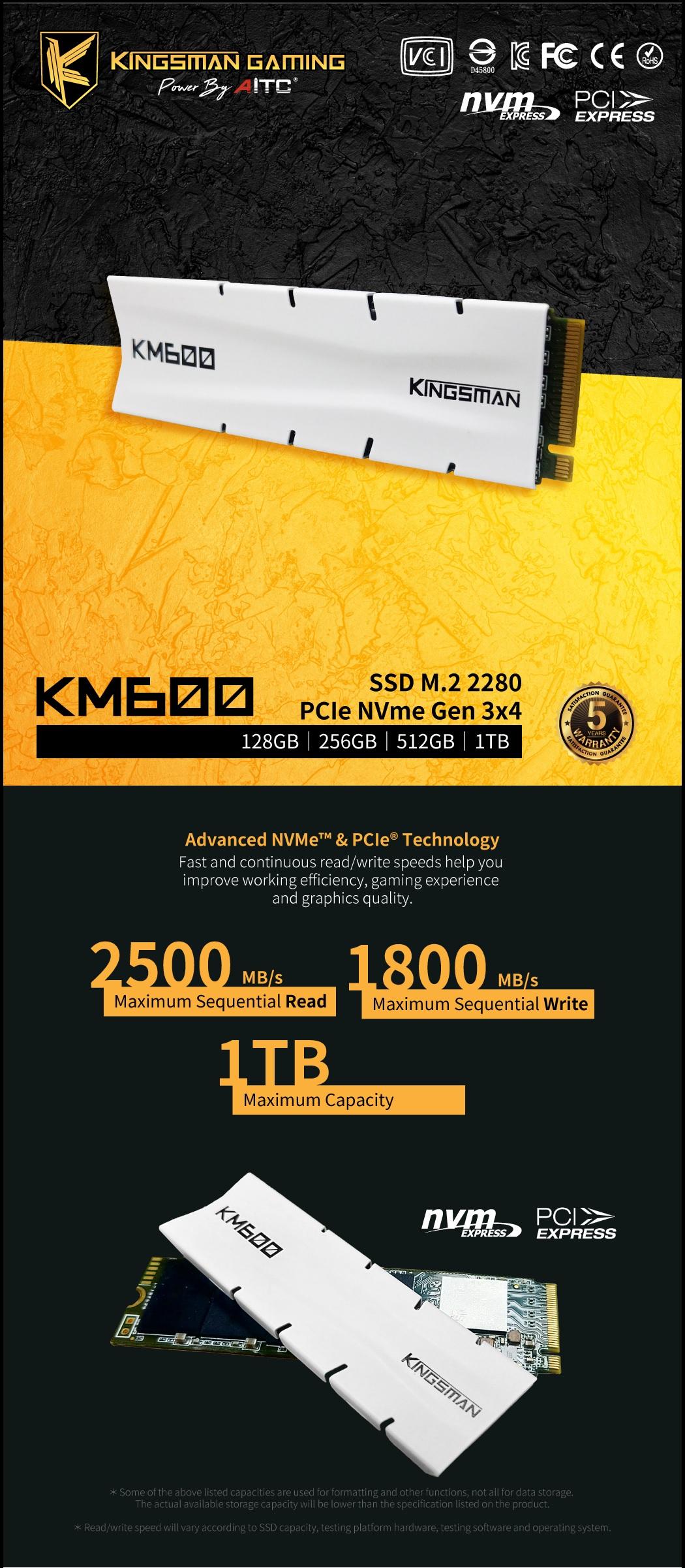AITC Kingsman M.2 PCIe Gen3 NVMe SSD-01